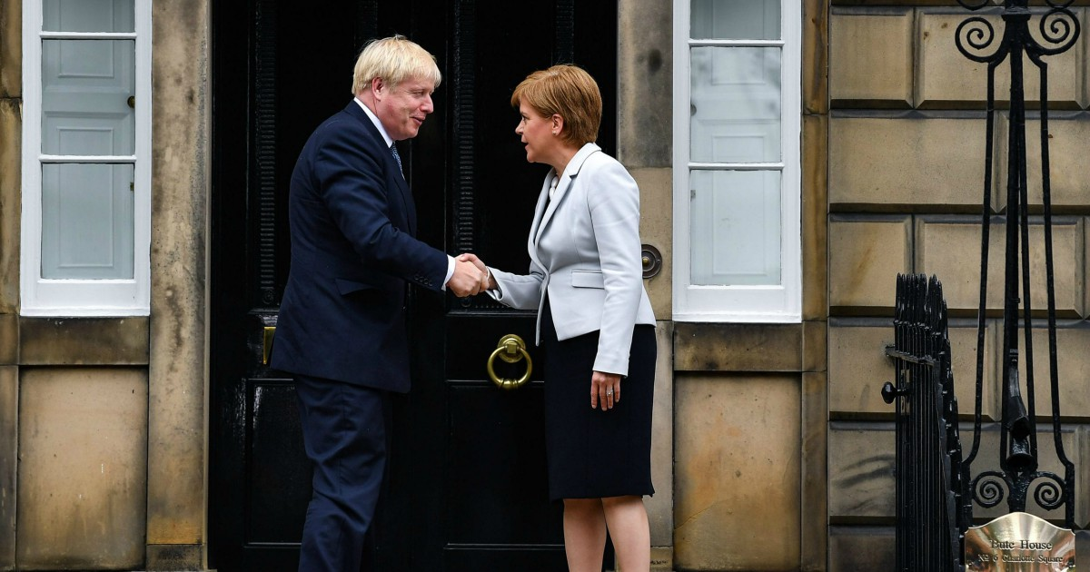 Boris Johnson e Nicola Sturgeon
